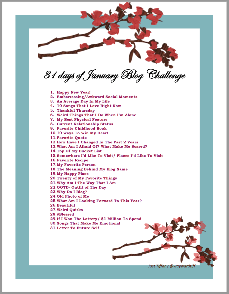 31 days of January blog Challenge.png